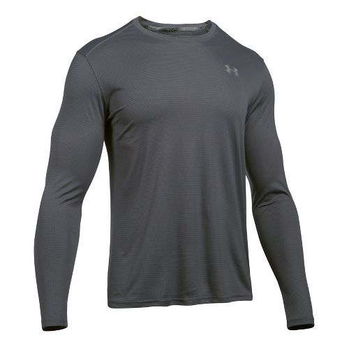 Mens Under Armour Coolswitch Run V2 Long Sleeve Technical Tops - Graphite M