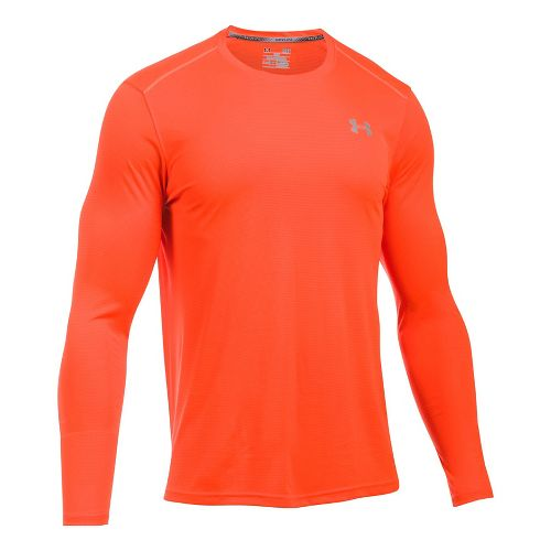 Mens Under Armour Coolswitch Run V2 Long Sleeve Technical Tops - Phoenix Fire M