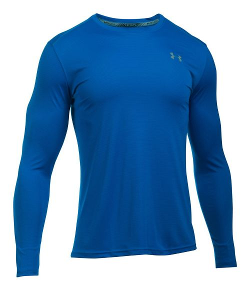 Mens Under Armour Coolswitch Run V2 Long Sleeve Technical Tops - Blue Marker XL