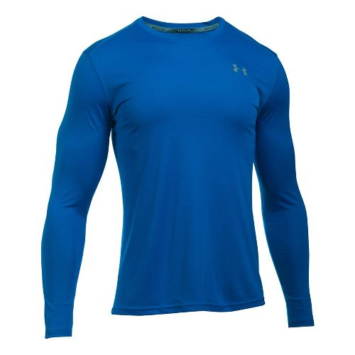 Mens Under Armour Coolswitch Run V2 Long Sleeve Technical Tops - Blue Marker 3XL