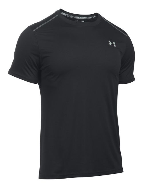 Mens Under Armour CoolSwitch Run V2 Short Sleeve Technical Tops - Black S
