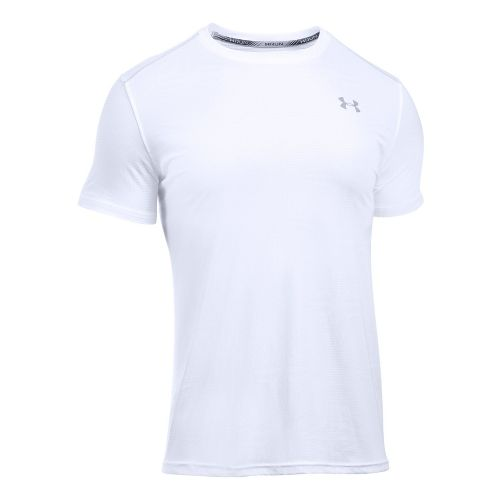 Mens Under Armour Coolswitch Run V2 Short Sleeve Technical Tops - White M