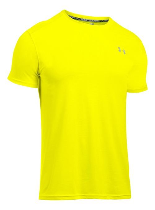 Mens Under Armour CoolSwitch Run V2 Short Sleeve Technical Tops - Blackout Navy L