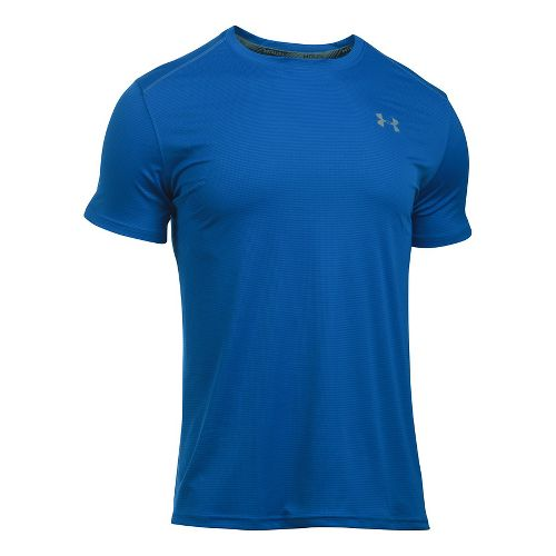 Mens Under Armour Coolswitch Run V2 Short Sleeve Technical Tops - Blue Marker M