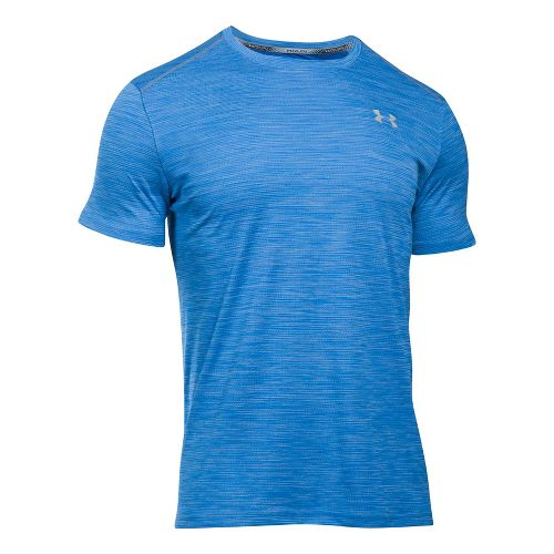 Mens Under Armour CoolSwitch Run V2 Short Sleeve Technical Tops - Lapis Blue L