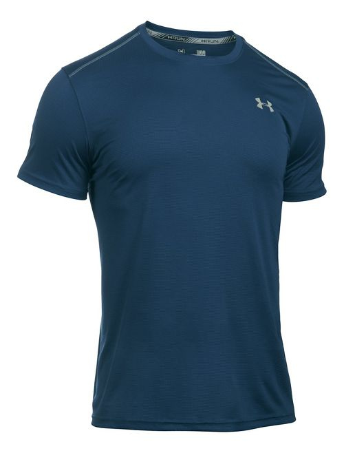 Mens Under Armour CoolSwitch Run V2 Short Sleeve Technical Tops - Blackout Navy S