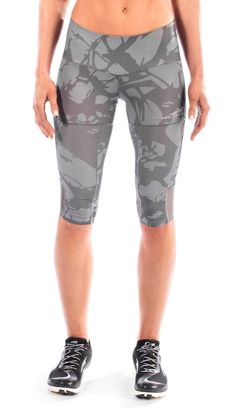 Womens Altra Capri Tight Capris Pants - Grey S