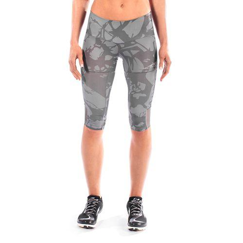 Womens Altra Capri Tight Capris Pants - Grey M