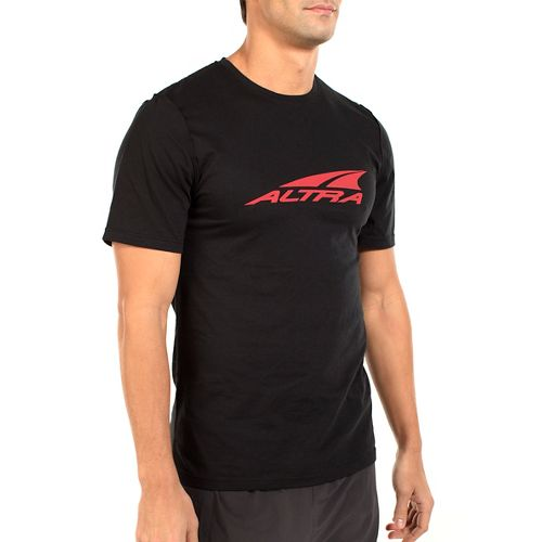 Mens Altra Core Tee Short Sleeve Technical Tops - Black L