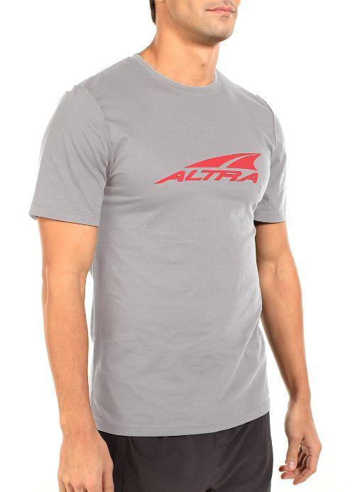 Mens Altra Core Tee Short Sleeve Technical Tops - Grey L