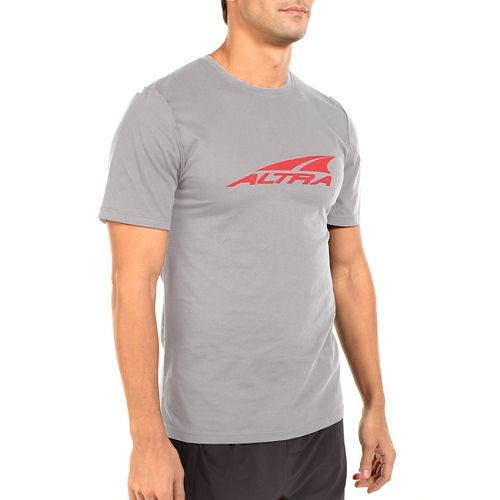 Mens Altra Core Tee Short Sleeve Technical Tops - Grey XL