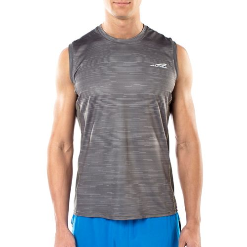 Mens Altra Running Sleeveless & Tank Tops Technical Tops - Grey M