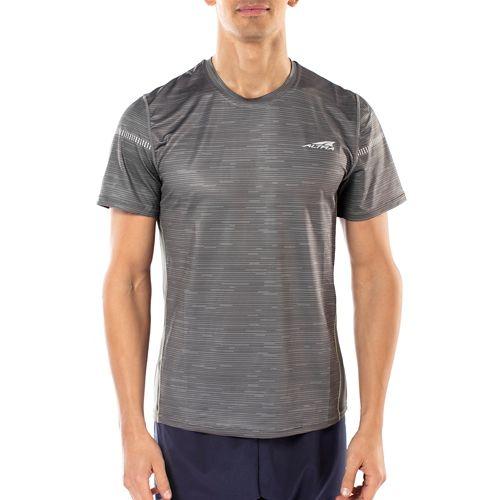 Mens Altra Running Tee Short Sleeve Technical Tops - Grey L