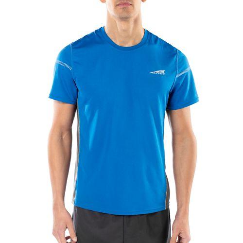 Mens Altra Running Tee Short Sleeve Technical Tops - Blue M
