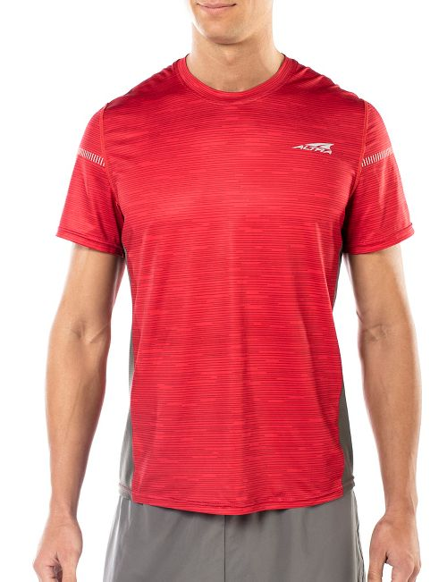Mens Altra Running Tee Short Sleeve Technical Tops - Red L