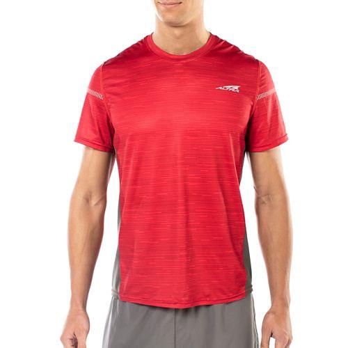 Mens Altra Running Tee Short Sleeve Technical Tops - Red XL
