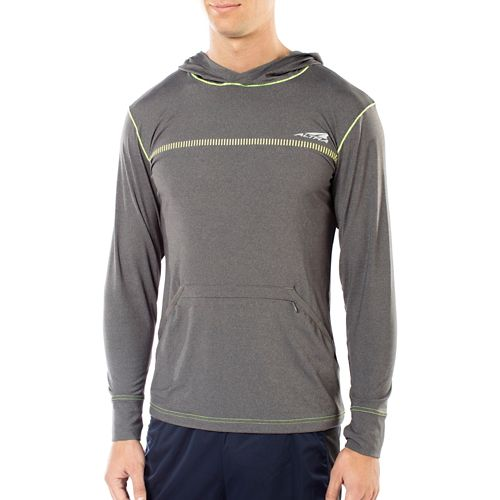 Mens Altra Performance Half-Zips & Hoodies Technical Tops - Grey M