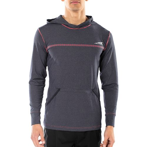 Mens Altra Performance Half-Zips & Hoodies Technical Tops - Navy L
