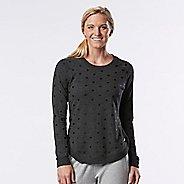 Womens R-Gear Kickin' Back Sweatshirt Long Sleeve Technical Tops - Heather Black L