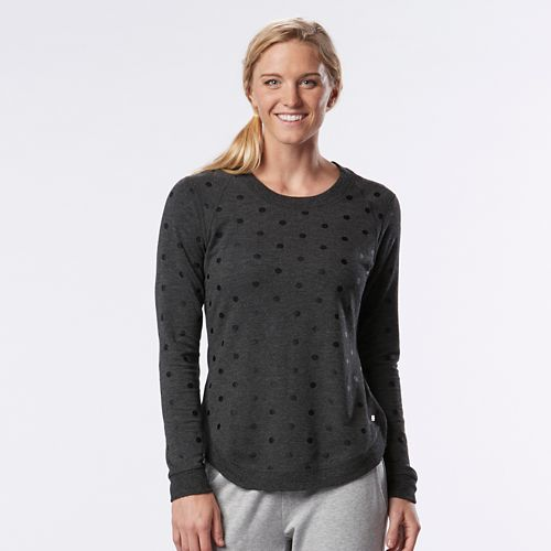 Womens R-Gear Kickin' Back Sweatshirt Long Sleeve Technical Tops - Heather Black L