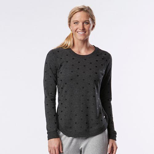 Womens R-Gear Kickin' Back Sweatshirt Long Sleeve Technical Tops - Heather Black XL
