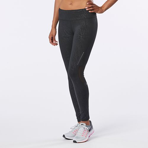 Womens R-Gear Recharge Compression Printed Tights - Black Embossed XS