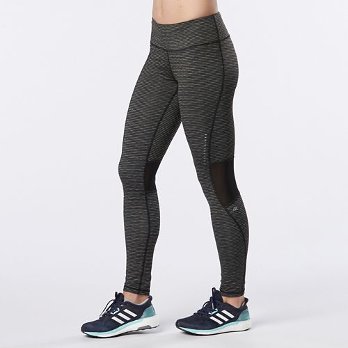 Womens R-Gear Recharge Compression Printed Tights - Heather Black Stripe L