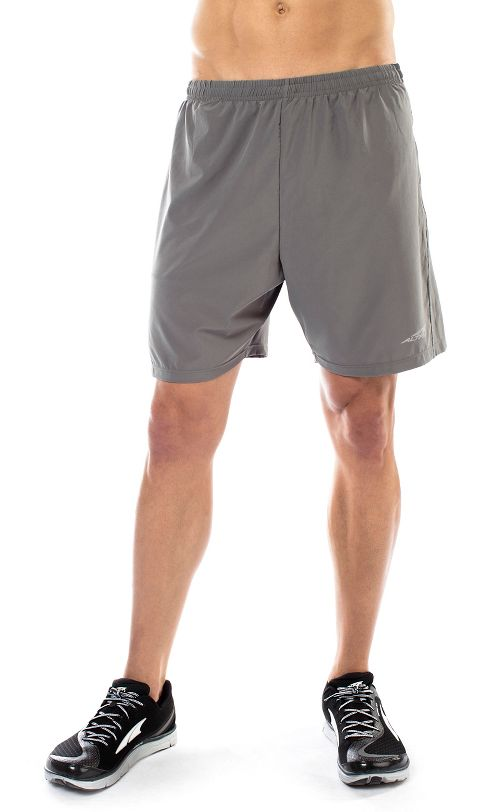 Mens Altra Long Running Unlined Shorts - Grey L
