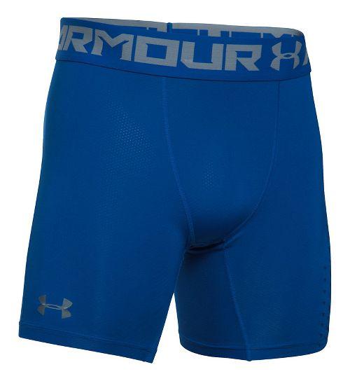 Mens Under Armour HeatGear Armour Compression Short Boxer Brief Underwear Bottoms - Royal XL