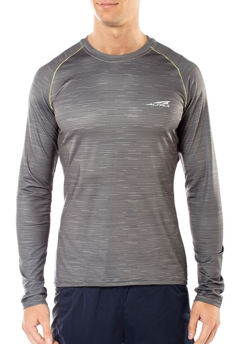 Mens Altra Running Long Sleeve Technical Tops - Grey L