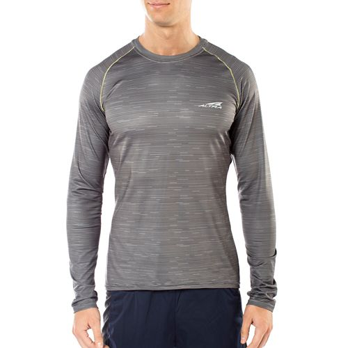 Mens Altra Running Long Sleeve Technical Tops - Grey S