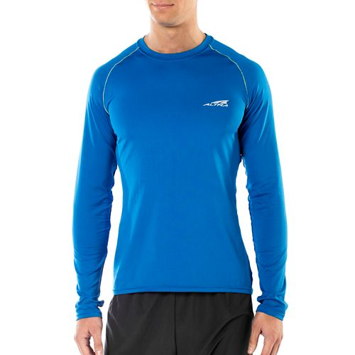 Mens Altra Running Long Sleeve Technical Tops - Blue S