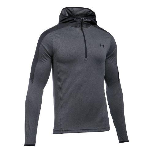 Mens Under Armour Supervent 1/4 Zip Half-Zips & Hoodies Technical Tops - Carbon Heather 3XL