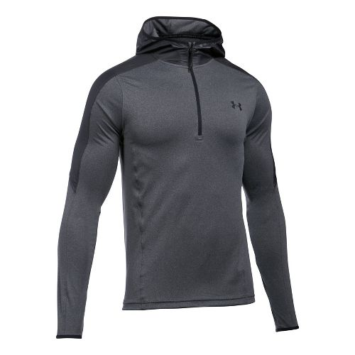 Mens Under Armour Supervent 1/4 Zip Half-Zips & Hoodies Technical Tops - Carbon Heather L
