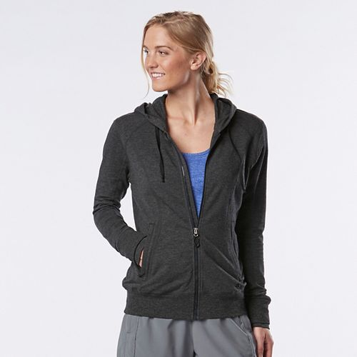 Womens R-Gear Always On Lightweight Half-Zips & Hoodies Technical Tops - Heather Black S