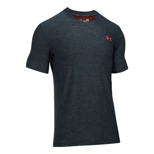 Mens Under Armour Supvervent Fitted Short Sleeve Technical Tops - Anthracite L