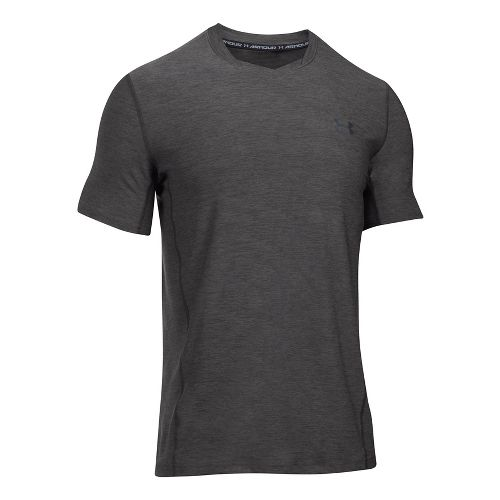 Mens Under Armour Supvervent Fitted Short Sleeve Technical Tops - Carbon Heather XXL