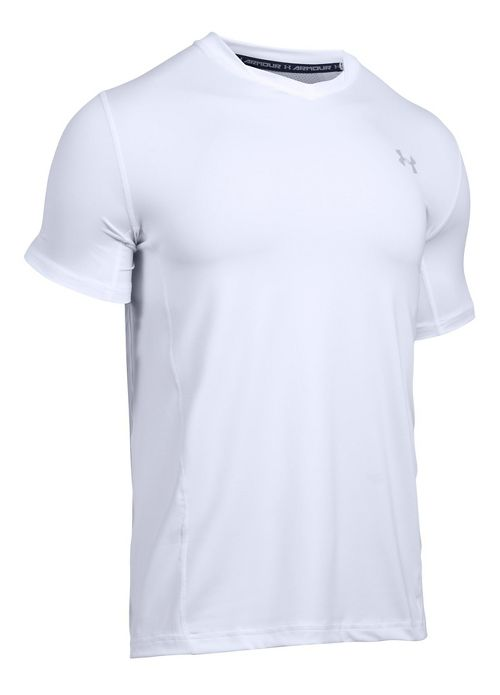 Mens Under Armour Supvervent Fitted Short Sleeve Technical Tops - White XL