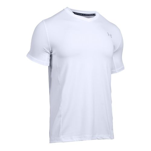 Mens Under Armour Supervent Fitted Short Sleeve Technical Tops - White XXL