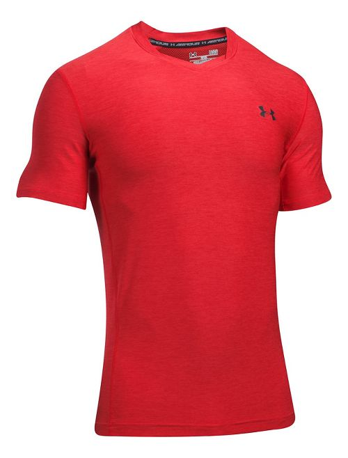 Mens Under Armour Supvervent Fitted Short Sleeve Technical Tops - Red 3XL