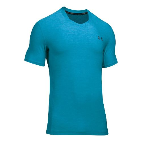 Mens Under Armour Supvervent Fitted Short Sleeve Technical Tops - Blue Shift M