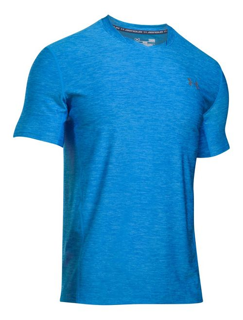 Mens Under Armour Supvervent Fitted Short Sleeve Technical Tops - Mako Blue L
