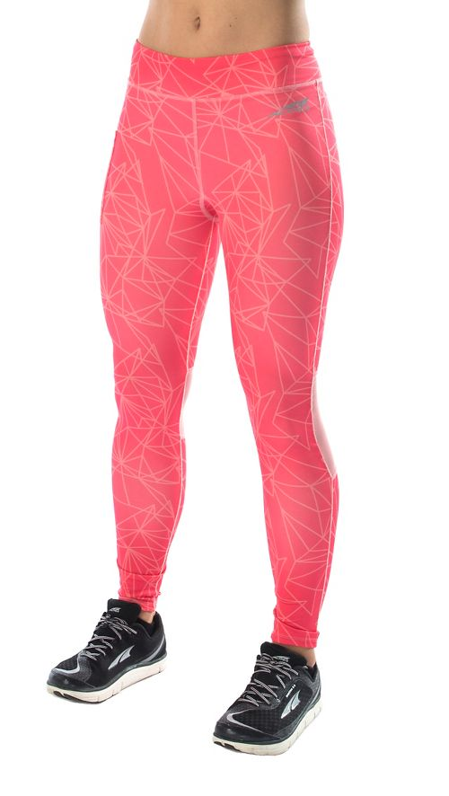 Womens Altra Performance Full Tights & Leggings Pants - Pink XS