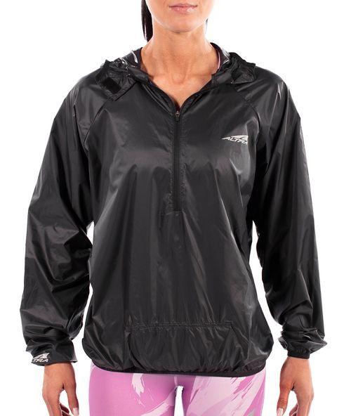 Womens Altra Stashjack Windbreaker Fullback Running Jackets - Black XS