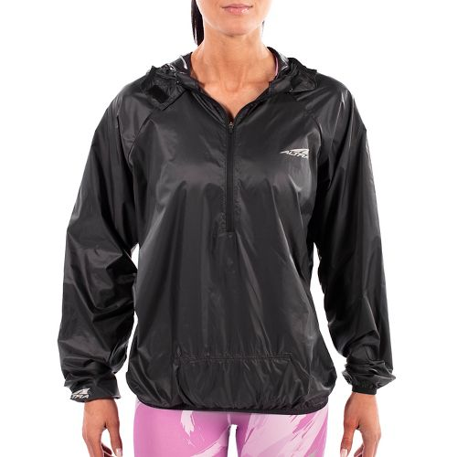 Womens Altra Stashjack Windbreaker Fullback Running Jackets - Grey M