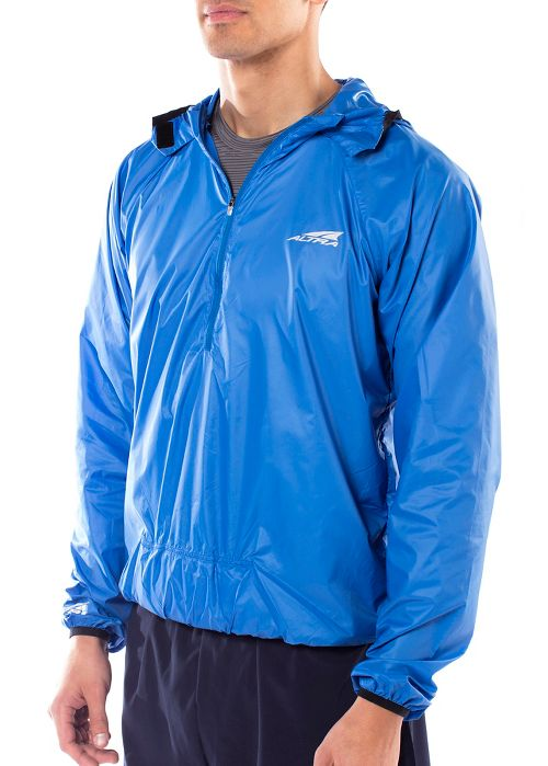 Womens Altra Stashjack Windbreaker Fullback Running Jackets - Blue XS