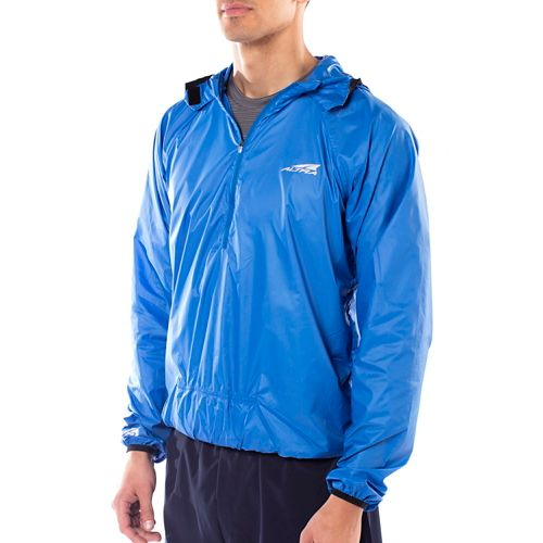 Womens Altra Stashjack Windbreaker Fullback Running Jackets - Blue S