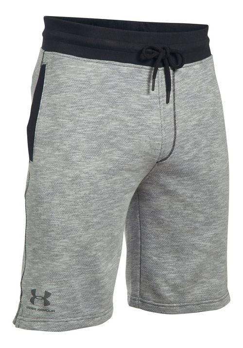 Mens Under Armour SS Camo Fleece Unlined Shorts - Black XXL