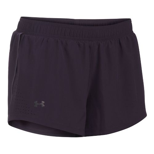 Womens Under Armour Accelerate Split Unlined Shorts - Imperial Purple S