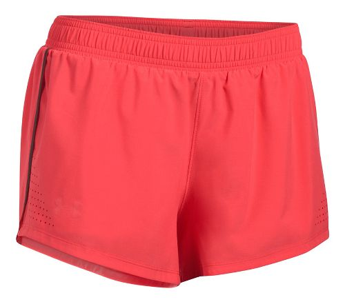 Womens Under Armour Accelerate Split Unlined Shorts - Red/Reflective S